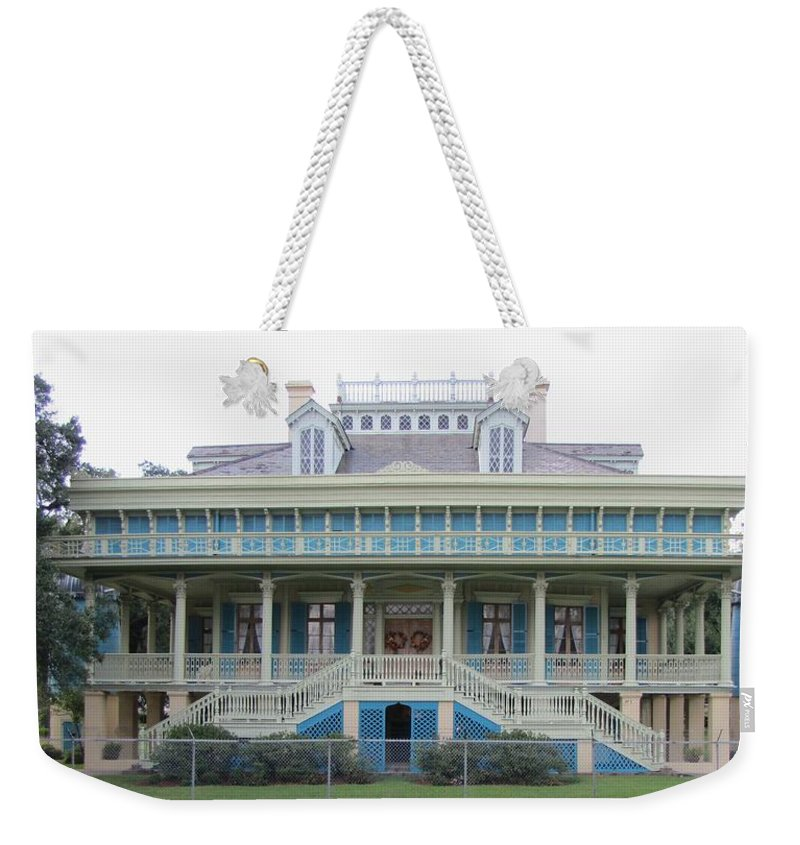 Plantation Home Weekender Tote Bag featuring the photograph San Francisco Plantation by Michelle Powell