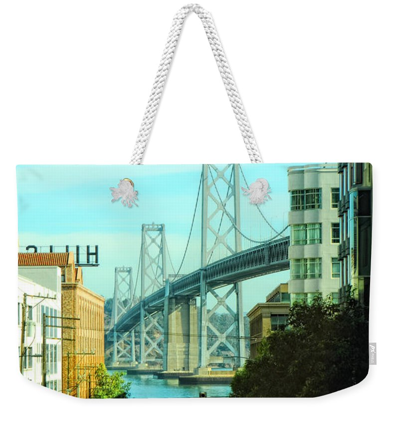 San Francisco Weekender Tote Bag featuring the photograph San Francisco Street by Donna Blackhall