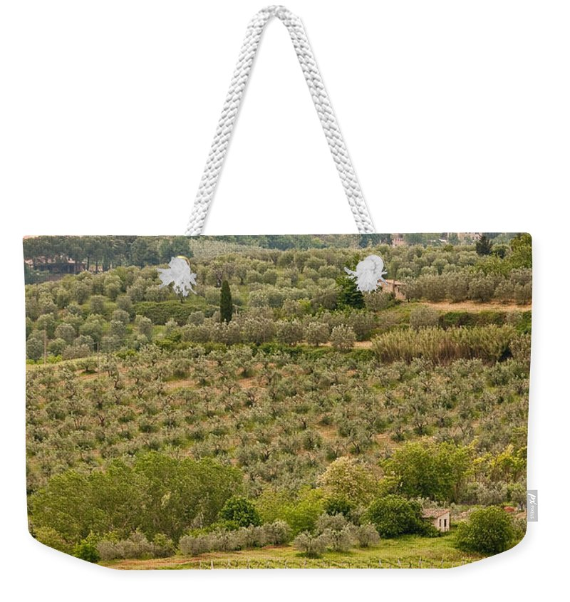 Italy Weekender Tote Bag featuring the photograph San Gimignano II by Colette Panaioti