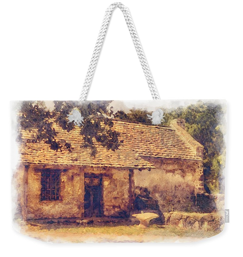 San Juan Mission Residence Weekender Tote Bag featuring the photograph San Juan Mission Residence by Priscilla Burgers