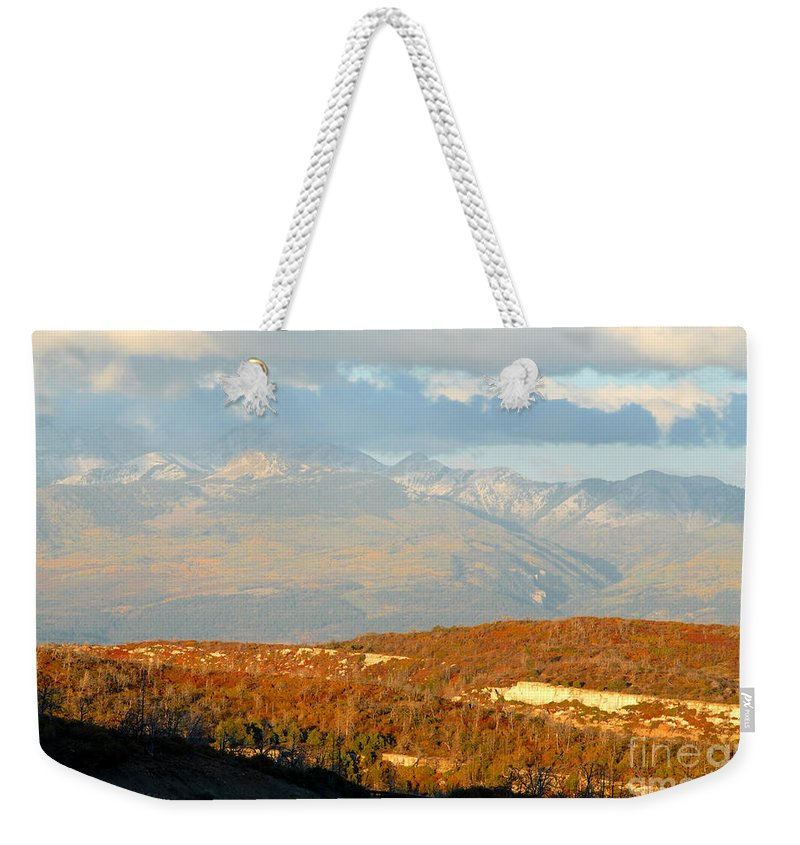 San Juan Mountains Colorado Weekender Tote Bag featuring the photograph San Juan Mountains by David Lee Thompson