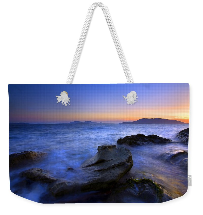 Sunset Weekender Tote Bag featuring the photograph San Juan Sunset by Mike Dawson