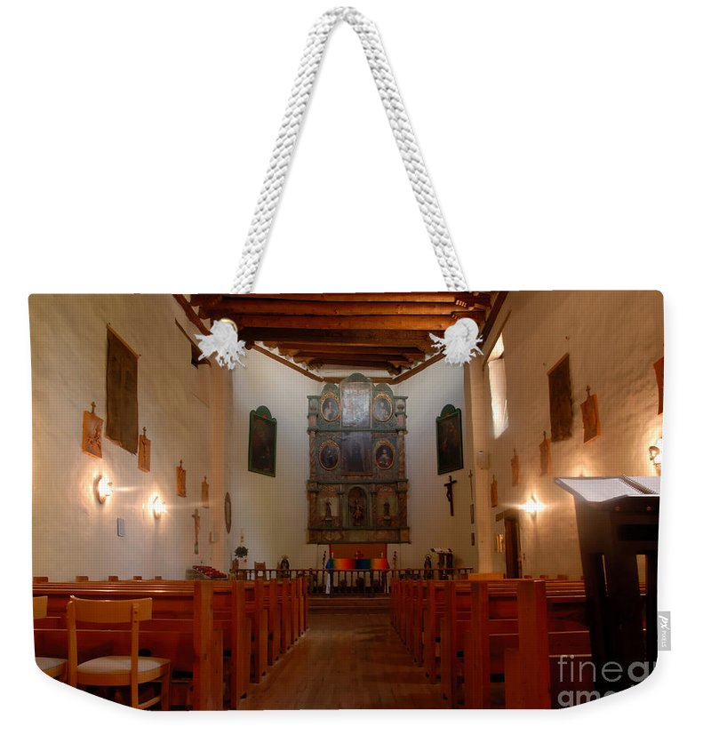 San Miguel Mission Weekender Tote Bag featuring the photograph San Miguel Mission Church by David Lee Thompson