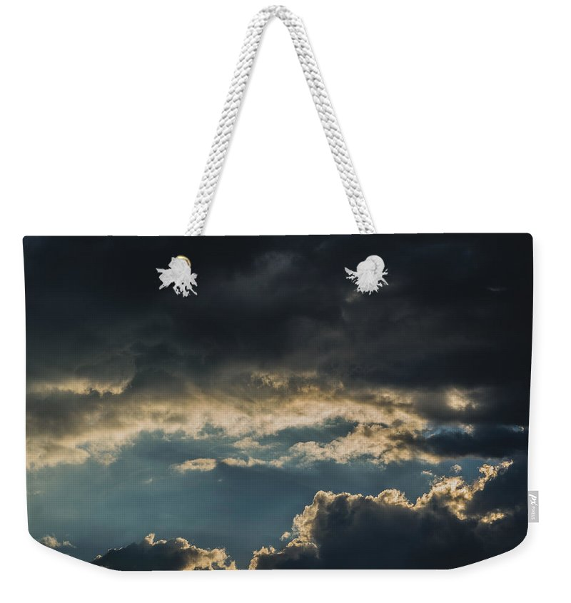 Sunset Weekender Tote Bag featuring the photograph San Salvador Sunset 6 by Totto Ponce
