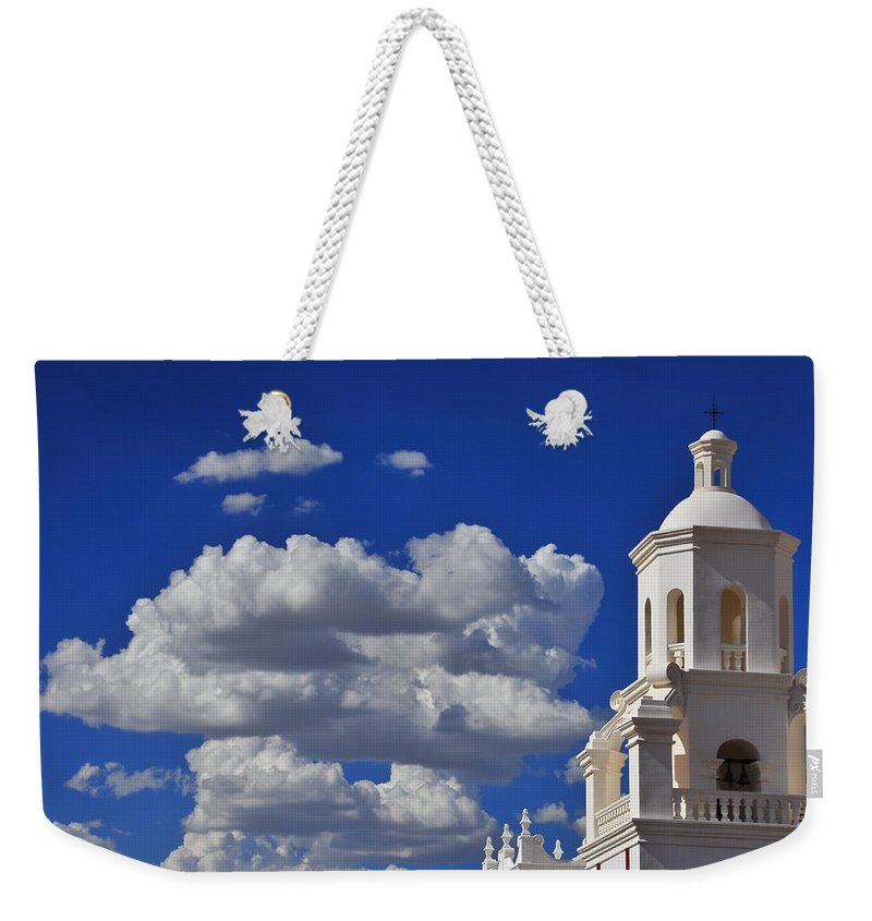 San Xavier Weekender Tote Bag featuring the photograph San Xavier by Skip Hunt