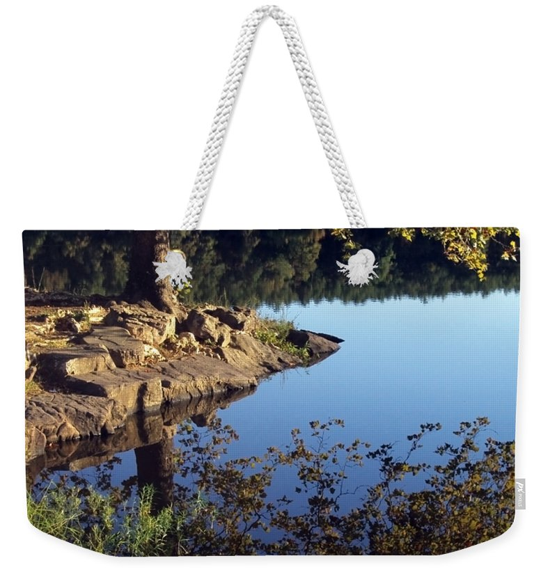 Landscape Weekender Tote Bag featuring the photograph Sanctuary by Angelina Vick