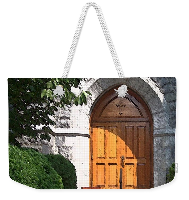 Church Weekender Tote Bag featuring the photograph Sanctuary by Debbi Granruth