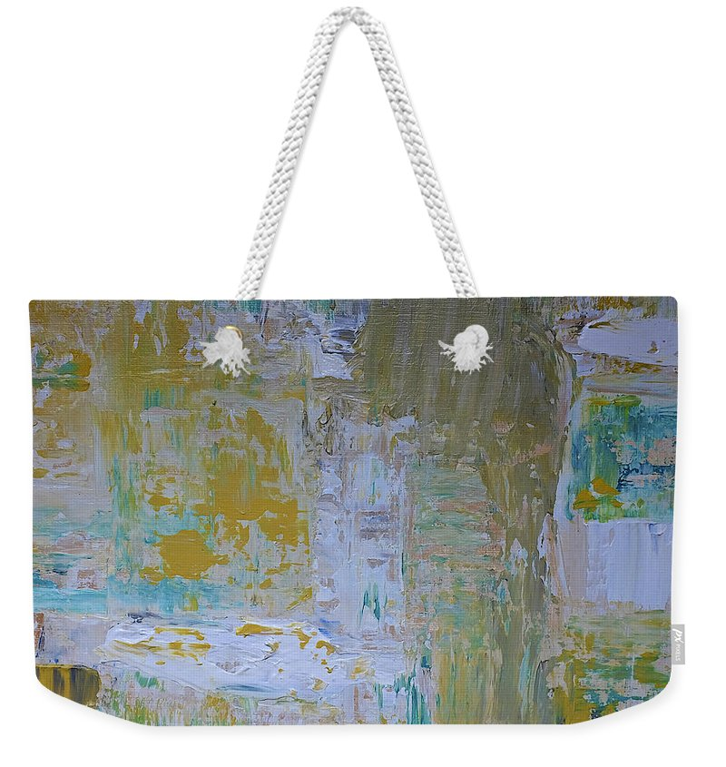 Abstract Weekender Tote Bag featuring the painting Sanctuary by Dick Bourgault