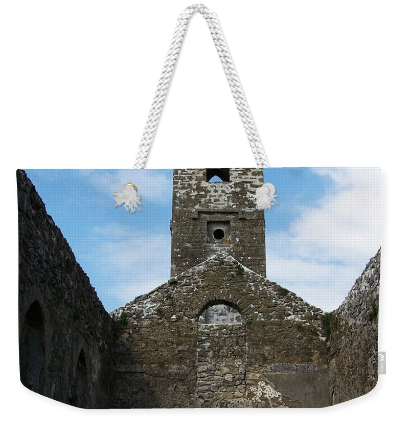Ireland Weekender Tote Bag featuring the photograph Sanctuary Fuerty Church Roscommon Ireland by Teresa Mucha