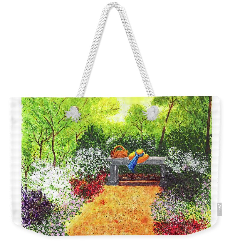Garden Painting Weekender Tote Bag featuring the painting Sanctuary by Patricia Griffin Brett