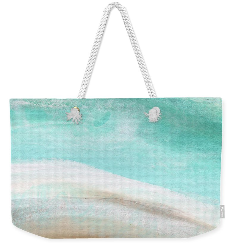 Beach Weekender Tote Bag featuring the painting Sand And Saltwater- Abstract Art By Linda Woods by Linda Woods