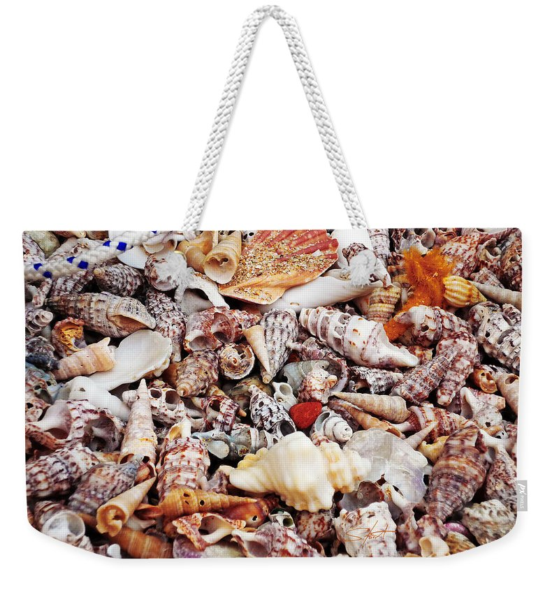Shells Weekender Tote Bag featuring the photograph Sand by Charles Stuart