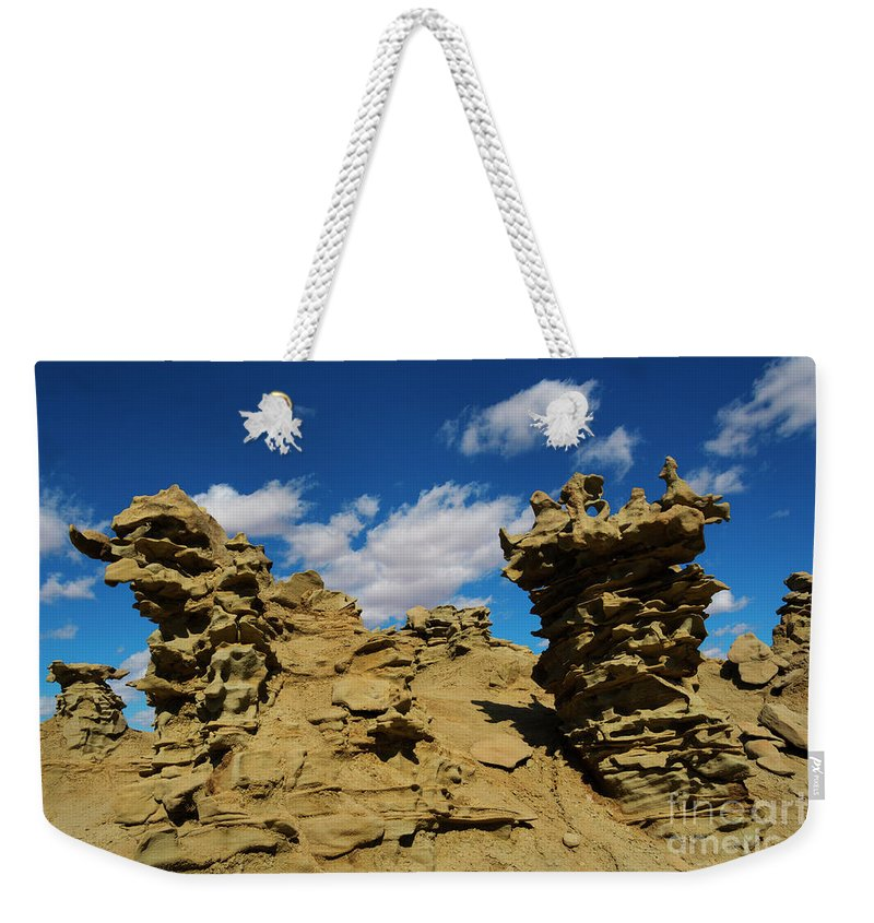 Siltstone Weekender Tote Bag featuring the photograph Sand Demons by Mike Dawson