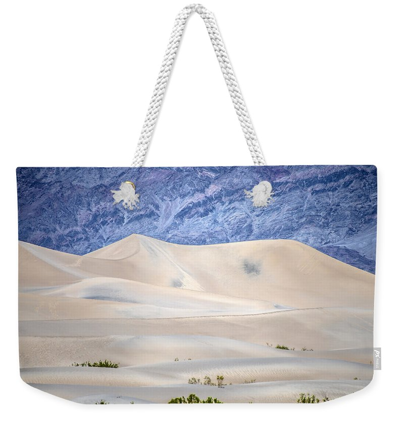 Desert Weekender Tote Bag featuring the photograph Sand Desert Usa by Patrick Boening