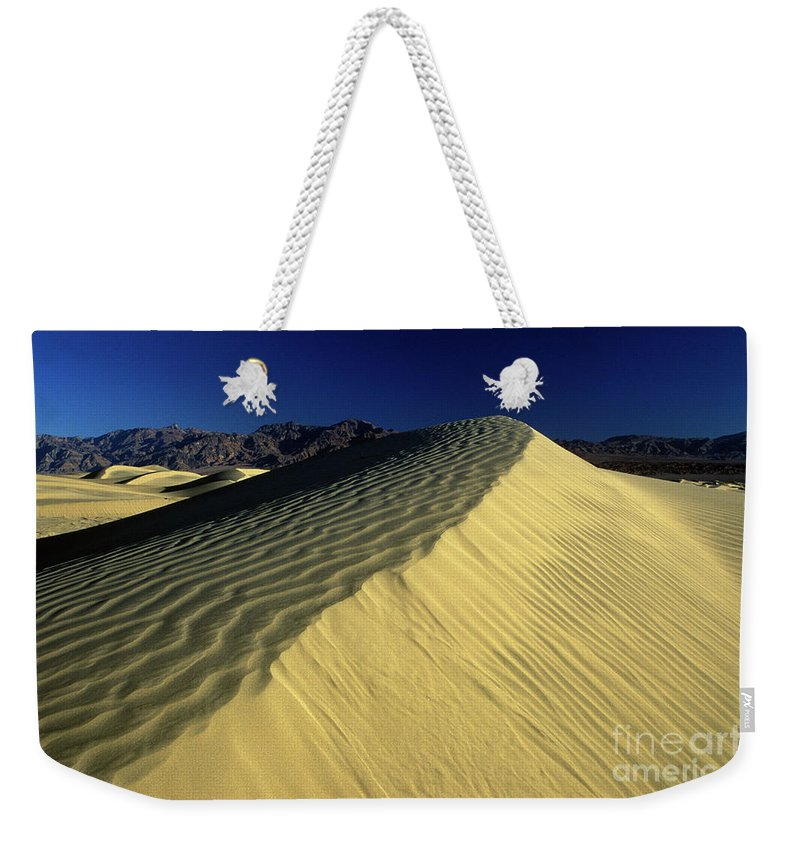 Death Weekender Tote Bag featuring the photograph Sand Dunes by Jim And Emily Bush