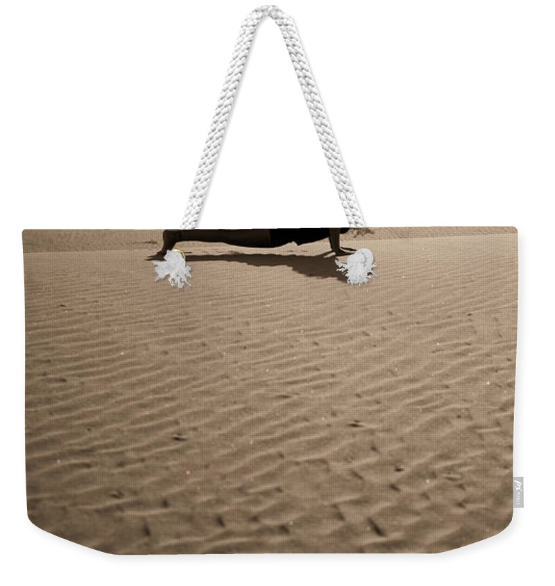 Yoga Weekender Tote Bag featuring the photograph Sand Plank by Scott Sawyer
