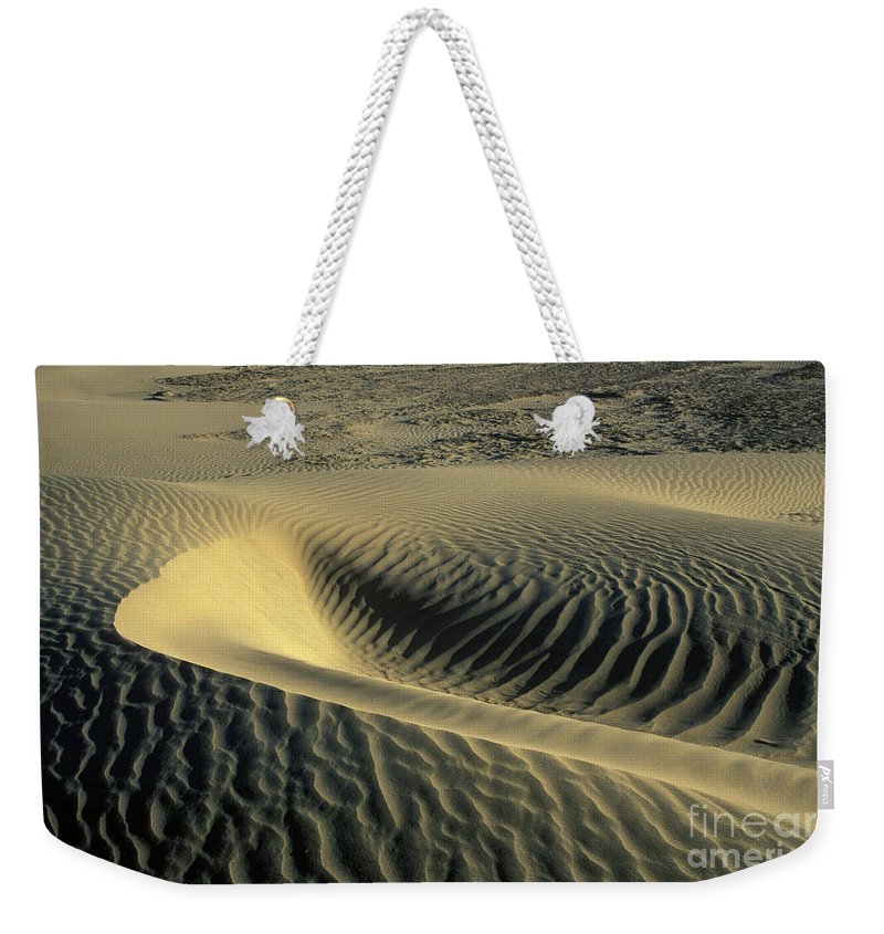 Death Weekender Tote Bag featuring the photograph Sand Ripples by Jim And Emily Bush