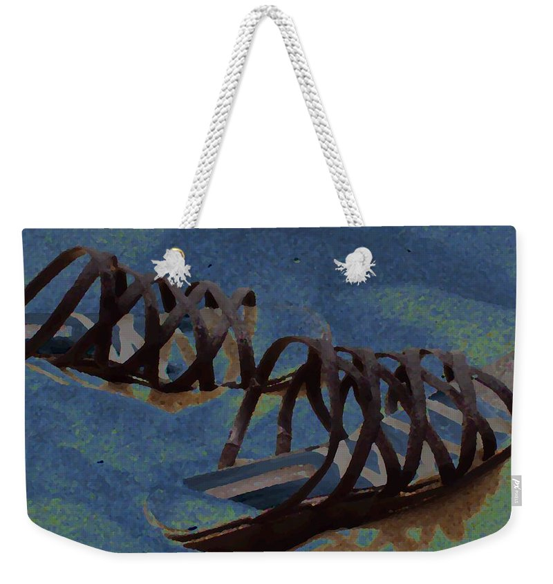 Shoes Weekender Tote Bag featuring the photograph Sand Shoes II by Deborah Crew-Johnson