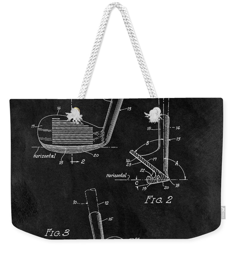 1963 Sand Wedge Patent Weekender Tote Bag featuring the drawing Sand Wedge Patent by Dan Sproul
