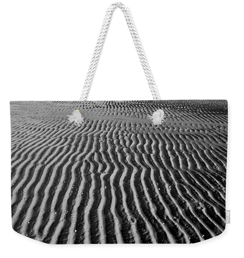 Sandbar Weekender Tote Bag featuring the photograph Sandbar Patterns by Charles Harden