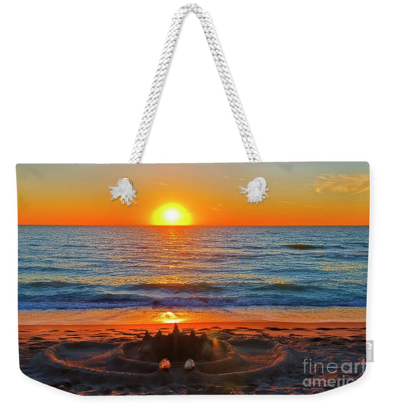Sandcastle Weekender Tote Bag featuring the photograph Sandcastle by David Arment