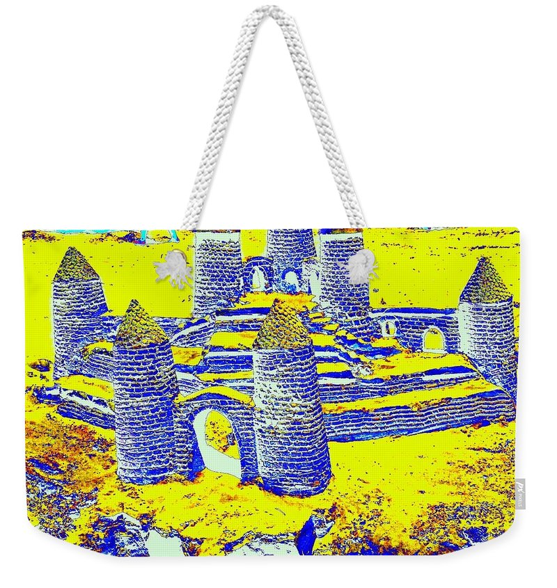 Landscape Weekender Tote Bag featuring the photograph Sandcastle Dreams by FlyingFish Foto