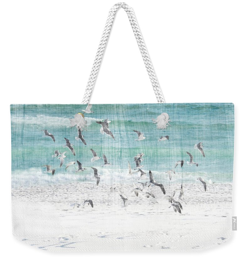 Sandestin Beach Weekender Tote Bag featuring the photograph Sandestin Seagulls E by Roe Rader