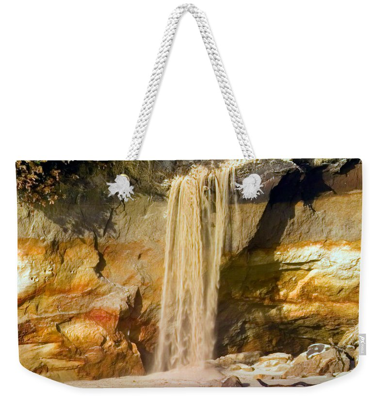 Sandfall Weekender Tote Bag featuring the photograph Sandfall by Randall Ingalls