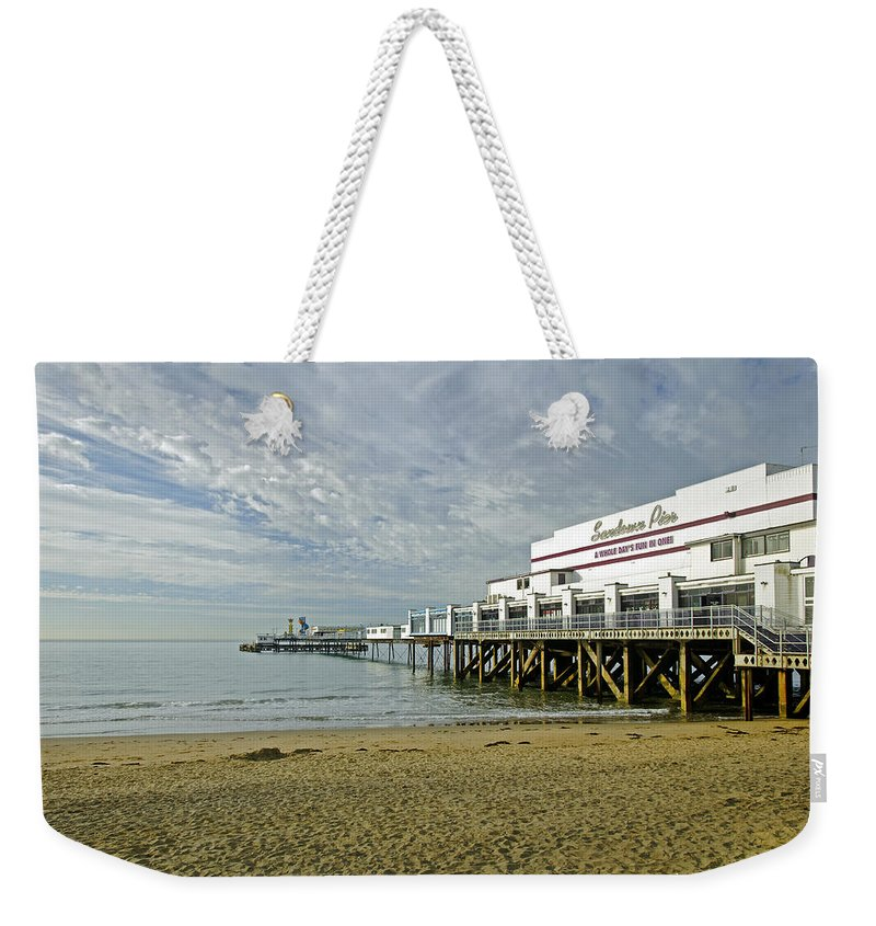 Sandown Weekender Tote Bag featuring the photograph Sandown Pier by Rod Johnson