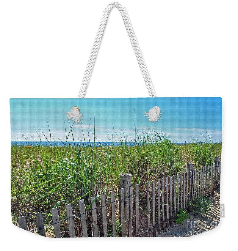Rehoboth Weekender Tote Bag featuring the photograph Sands Of The Dune by Jost Houk