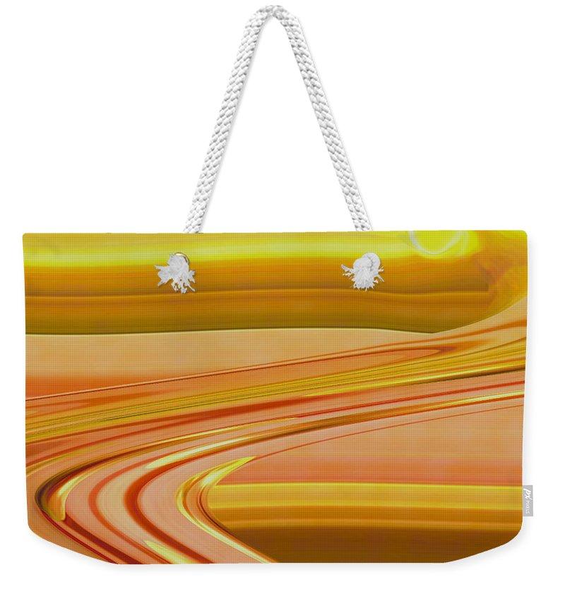 Sunset Art Weekender Tote Bag featuring the digital art Sands of Time by Linda Sannuti