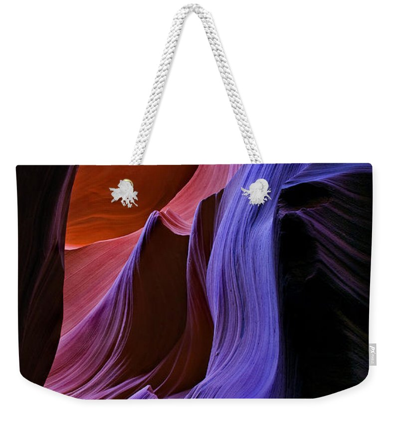 Sandstone Weekender Tote Bag featuring the photograph Sandstone Cascade by Mike Dawson