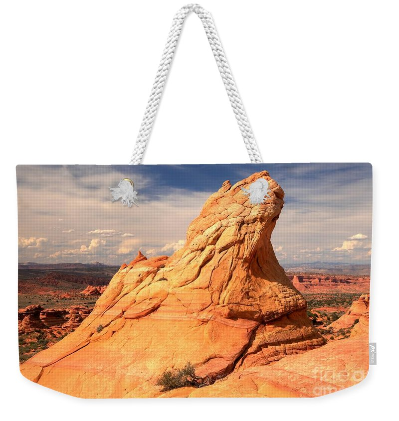 Coyote Buttes South Weekender Tote Bag featuring the photograph Sandstone Gopher by Adam Jewell