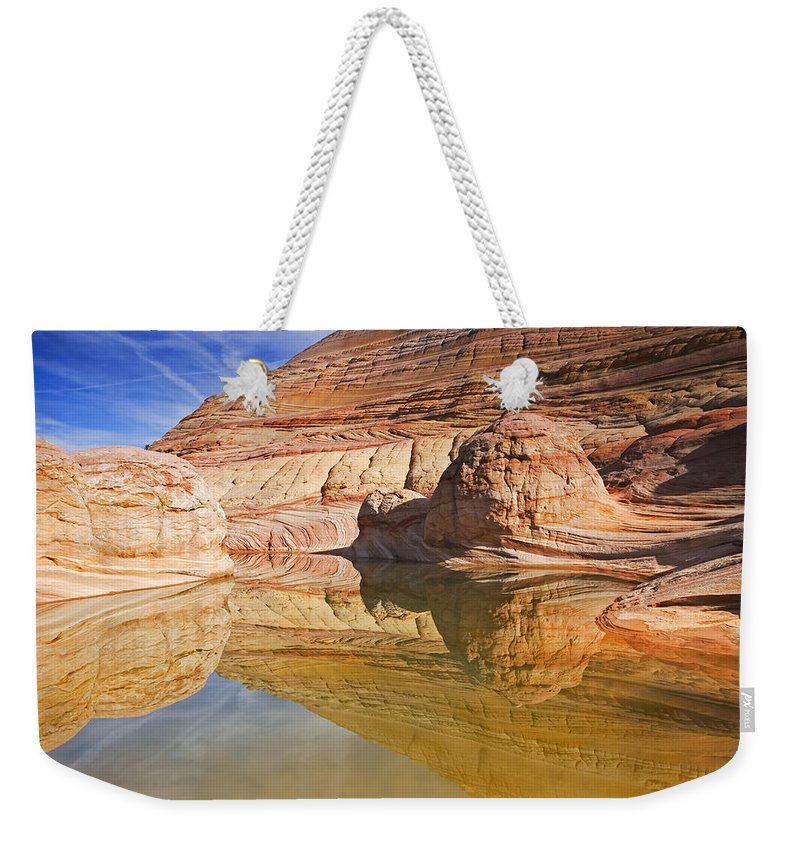 Pool Weekender Tote Bag featuring the photograph Sandstone Illusions by Mike Dawson