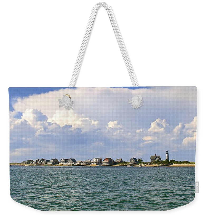 Sandy Neck Weekender Tote Bag featuring the photograph Sandy Neck Cottage Colony by Charles Harden