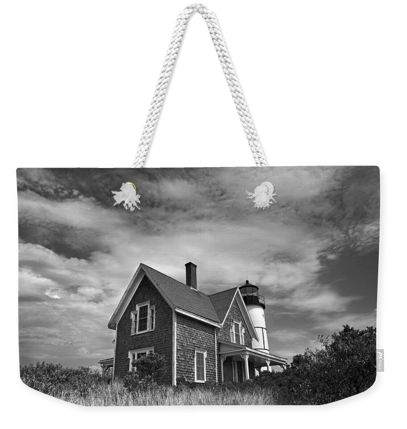 Sandy Neck Weekender Tote Bag featuring the photograph Sandy Neck Light by Charles Harden