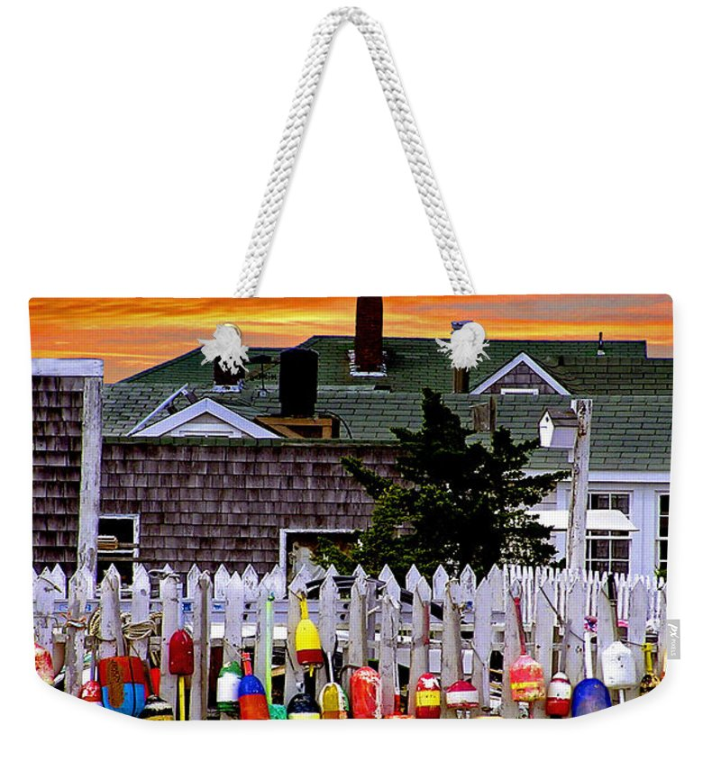 Sandy Neck Weekender Tote Bag featuring the photograph Sandy Neck Sunset by Charles Harden