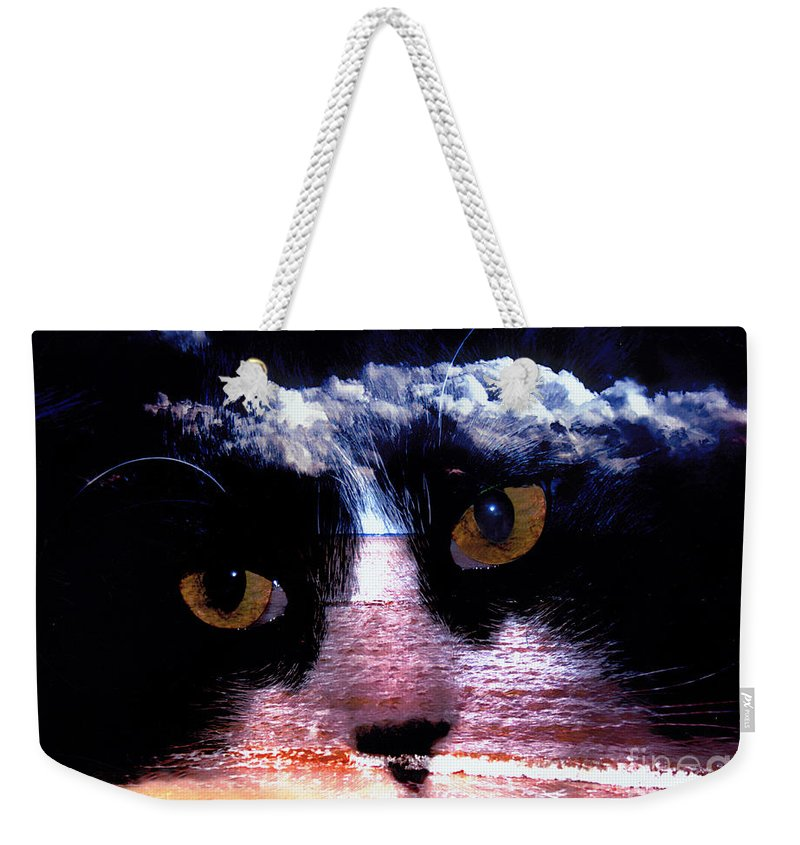 Clay Weekender Tote Bag featuring the photograph Sandy Paws by Clayton Bruster