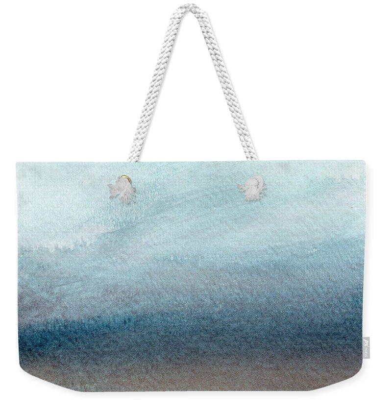 Beach Weekender Tote Bag featuring the painting Sandy Shore- Art by Linda Woods by Linda Woods