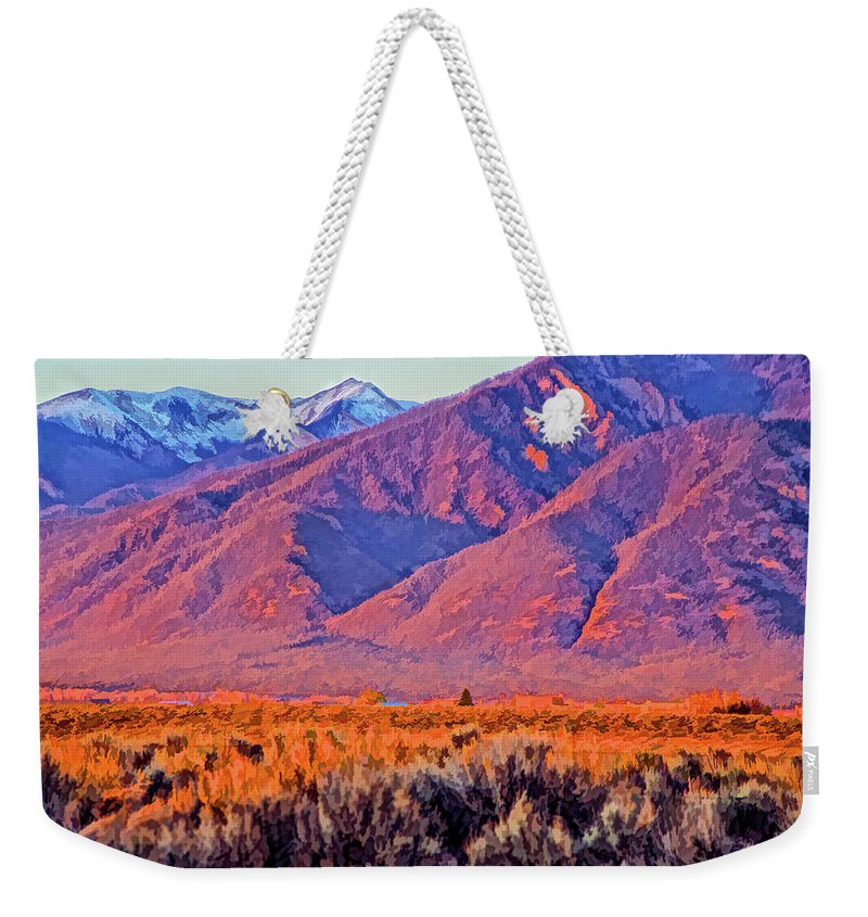 Santa Weekender Tote Bag featuring the photograph Sangre De Cristo by Charles Muhle