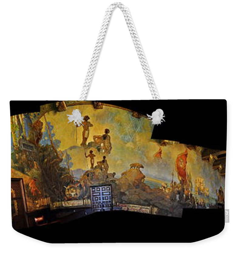 Clay Weekender Tote Bag featuring the photograph Santa Barbara Hall Of Murals by Clayton Bruster
