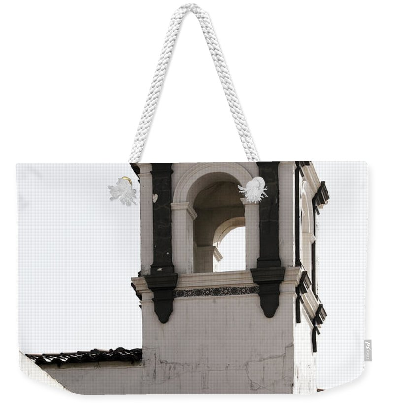 Bell Weekender Tote Bag featuring the photograph Santa Cruz Church by Marilyn Hunt
