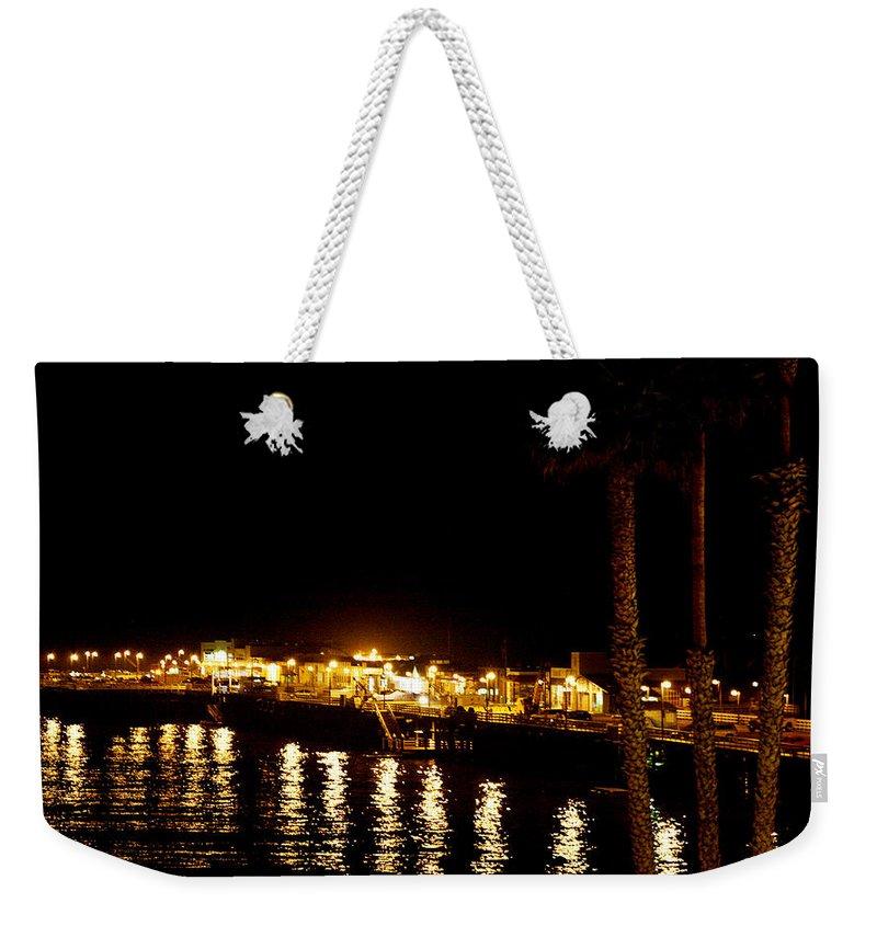 Pier Weekender Tote Bag featuring the photograph Santa Cruz Pier At Night by Marilyn Hunt