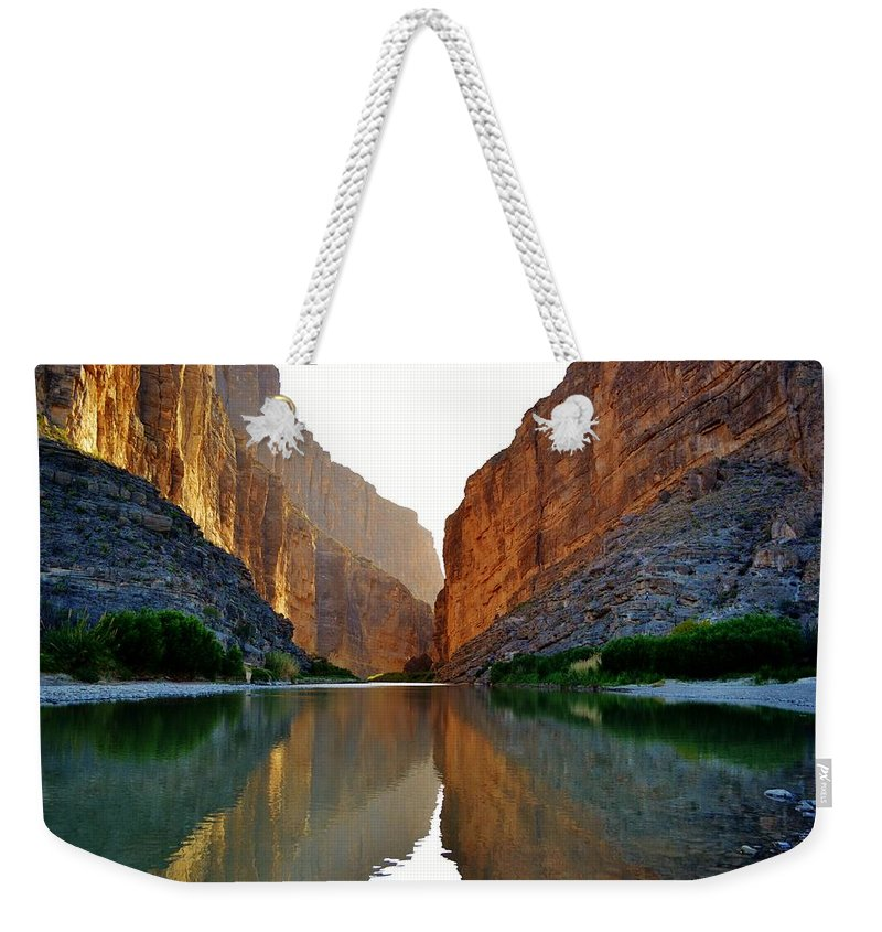 Canyon Weekender Tote Bag featuring the photograph Santa Elena Canyon by Dennis Nelson