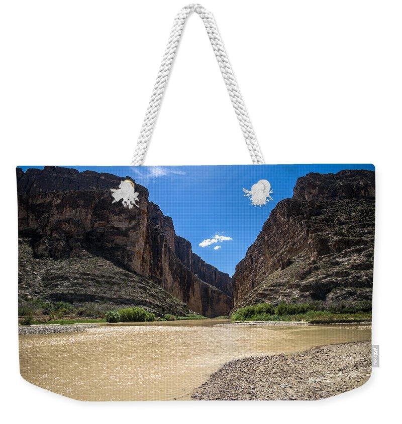 Big Bend National Park Weekender Tote Bag featuring the photograph Santa Elena Canyon by Robert J Caputo