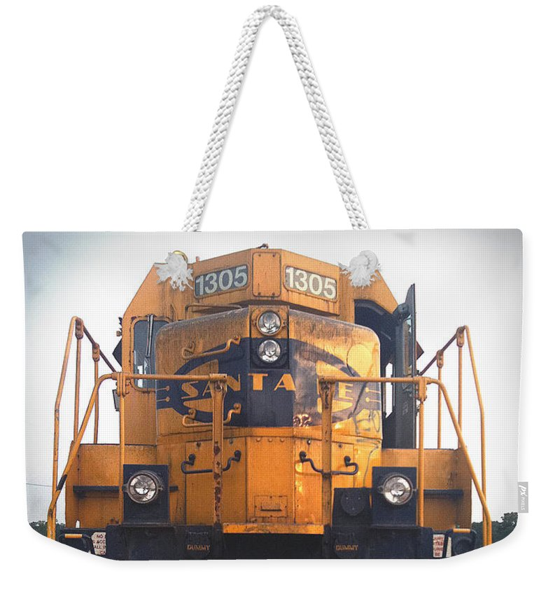 Train Weekender Tote Bag featuring the photograph Santa Fe - 1305 by D'Arcy Evans