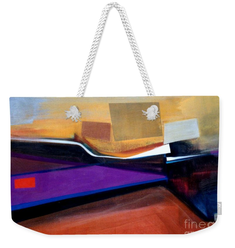 Abstract Weekender Tote Bag featuring the painting Santa Fe 2 Let Loose by Marlene Burns