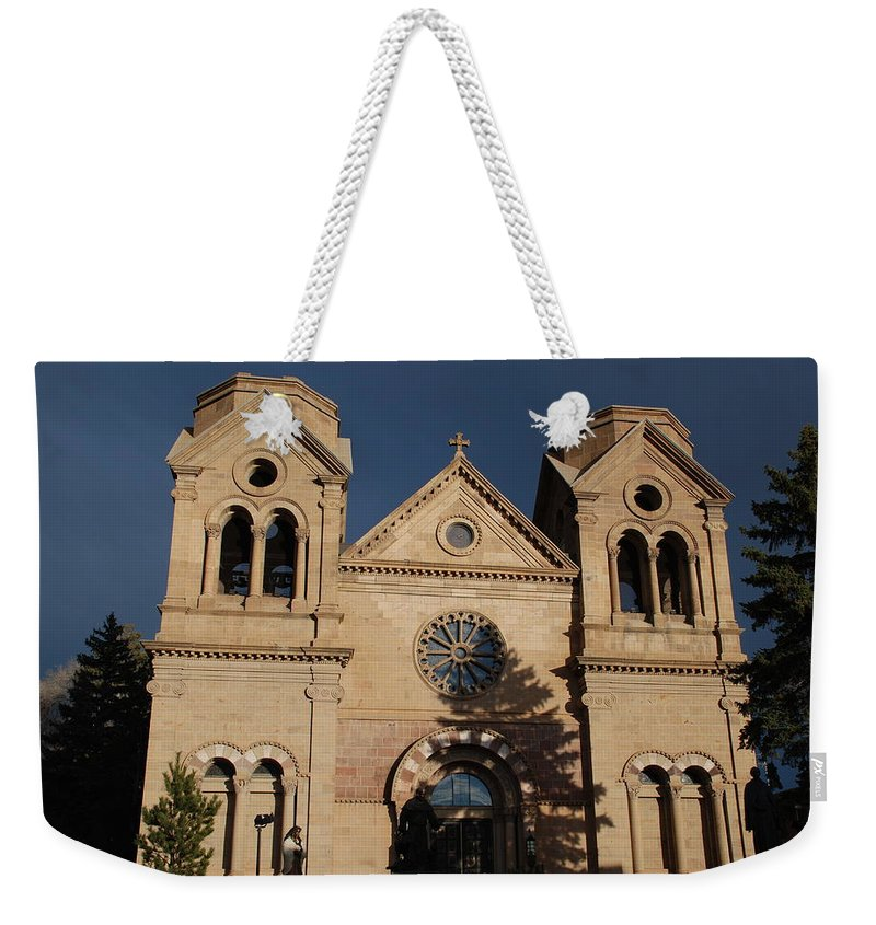 Architecture Weekender Tote Bag featuring the photograph Santa Fe Church by Rob Hans