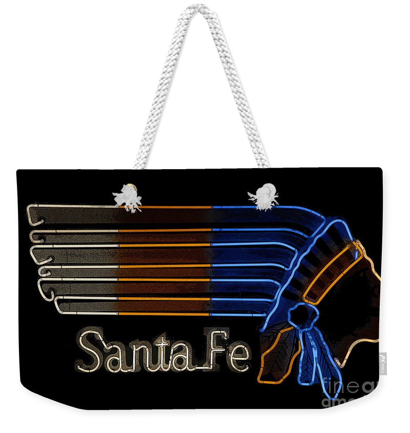 Art Weekender Tote Bag featuring the painting Santa Fe Indian by David Lee Thompson