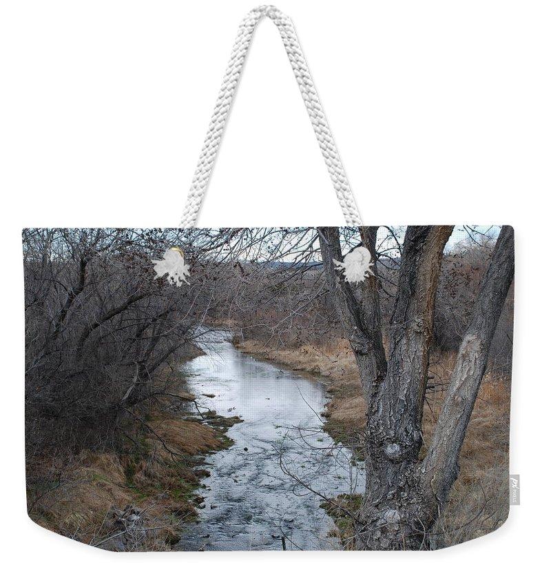 Santa Fe Weekender Tote Bag featuring the photograph Santa Fe River by Rob Hans